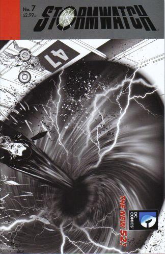 Stormwatch #7 Black and White Miguel Sepulveda Sketch Variant