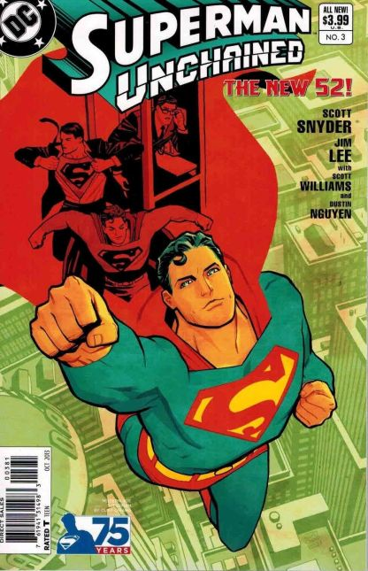 Superman Unchained #3 Cliff Chiang Modern Age Variant Jim Lee Scott Snyder