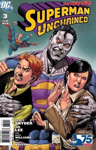 Superman Unchained #3 Ethan Van Sciver Vs Bizarro Variant Jim Lee Scott Snyder