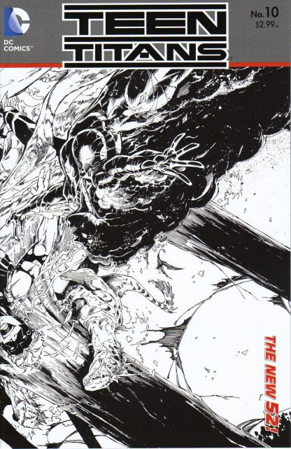 Teen Titans (New 52) #10 Black and White Brett Booth Sketch Variant