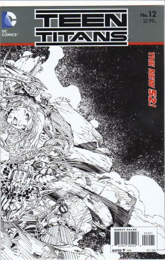 Teen Titans (New 52) #12 Black and White Brett Booth Sketch Variant