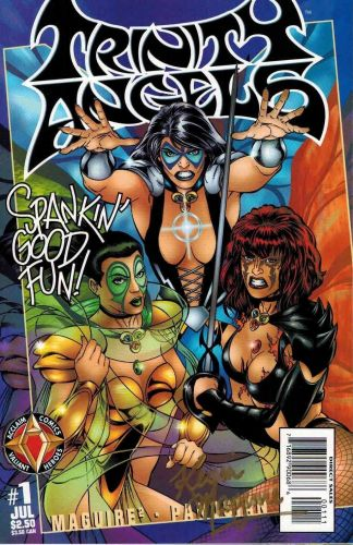 Trinity Angels #1 Signed by Kevin Maguire Acclaim Comics
