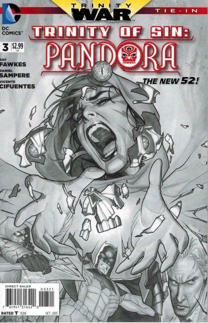 Trinity of Sin: Pandora #3 Black and White Ryan Sook Sketch Variant War