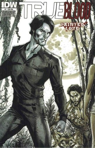 True Blood: Tainted Love #1 Black and White J. Scott Campbell Sketch Variant