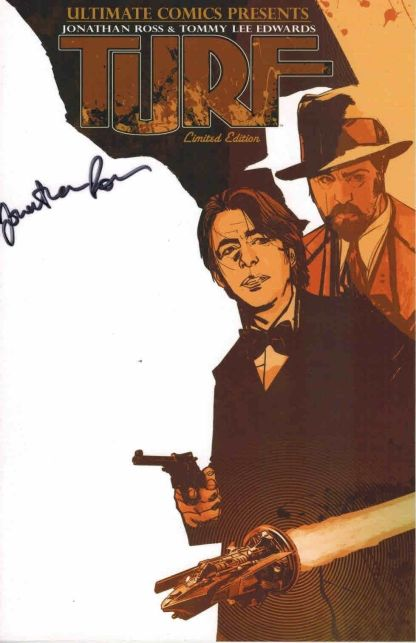 Turf #1 Ultimate Comics Blank Sketch Edwards Variant Signed by Jonathan Ross