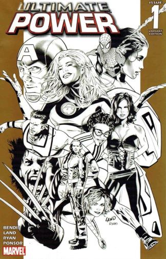 Ultimate Power #1 Black and White Greg Land Sketch Variant