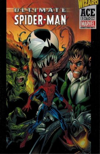 Ultimate Spider-Man #1 Wizard Ace Edition Acetate Overlay Variant Bendis