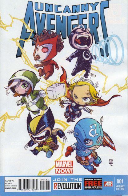Uncanny Avengers #1 Skottie Young Marvel Babies Variant NOW 2012