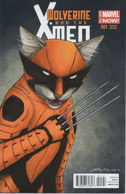 Wolverine and the X-Men #1 Jenny Parks Animal Variant Marvel ANMN 2014 Cat