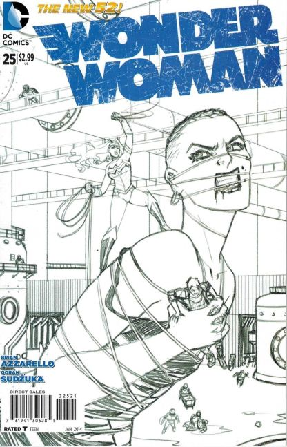 Wonder Woman #25 Black and White Cliff Chiang Sketch Variant