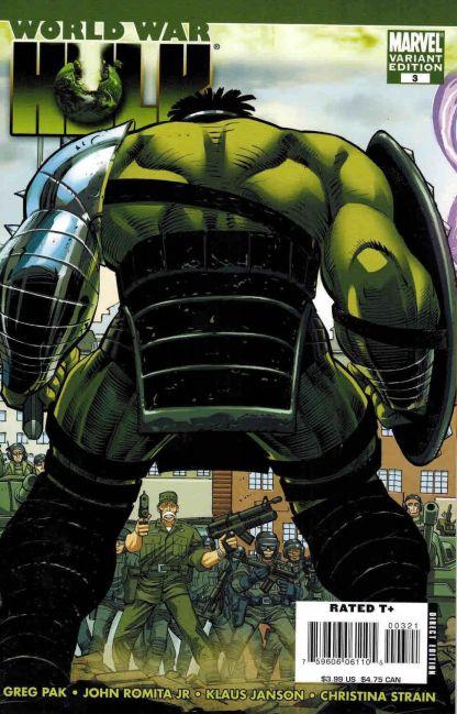 World War Hulk #3 John Romita Jr Variant Thunderbolt Ross