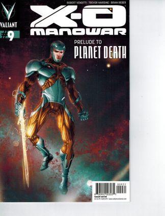 X-O MANOWAR #9 CRAIN variant cover valiant comics Venditti RARE