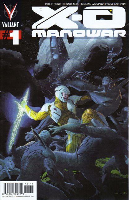 X-O Manowar #1 First Printing Esad Ribic Cover A Valiant 2012 Vendetti Nord