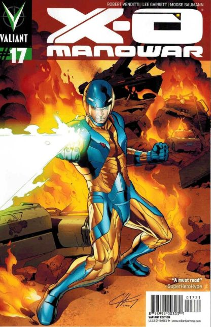 X-O Manowar #17 Clayton Henry Variant Valiant