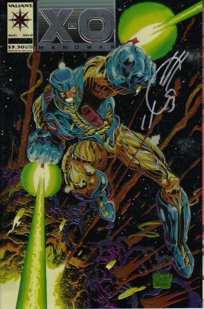 X-O Manowar (1993) #0 Joe Quesada Foil Variant Signed by Joe Quesada CoA