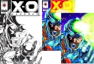 X-O Manowar #1 Joe Quesada Main/ Sketch/ Virgin 3 Comic Set Variant Valiant 2020