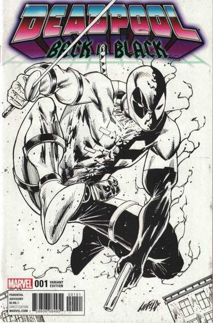 Deadpool Back In Black #1 1:100 Rob Liefeld Sketch Variant Marvel 2016 Venom