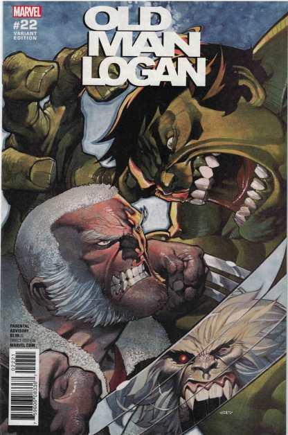 Old Man Logan #22 1:25 Chris Stevens Wolverine Hulk Variant Marvel 2016