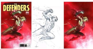 Defenders #1 Dell'otto Virgin Sketch Color Variant Marvel 2017 Set of 3
