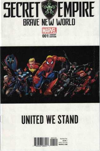 Secret Empire Brave New World #1 1:10 John Cassaday Teaser Variant Marvel 2017