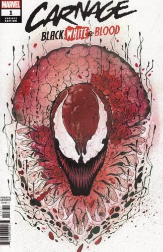 Carnage Black White & Blood #1 1:25 Peach Momoko Variant Marvel 2021