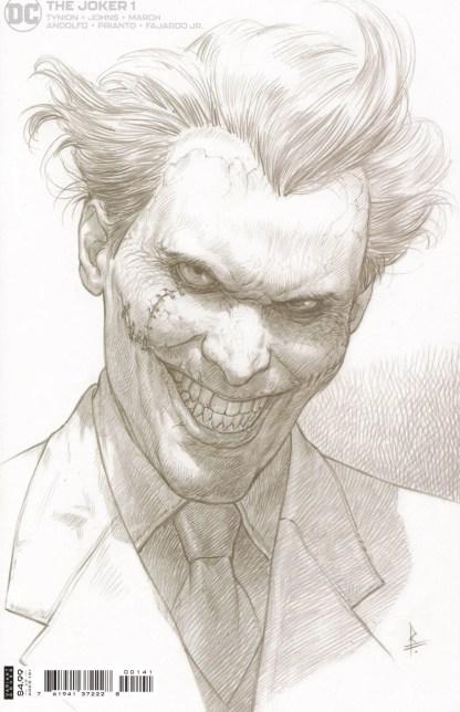 Joker #1 1:25 Riccardo Federici B&W Sketch Variant DC 2021 James Tynion IV