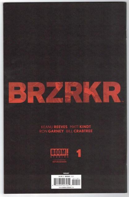 BRZRKR #1 1:500 Mark Brooks Blueline Variant Boom! 2020 VF/NM