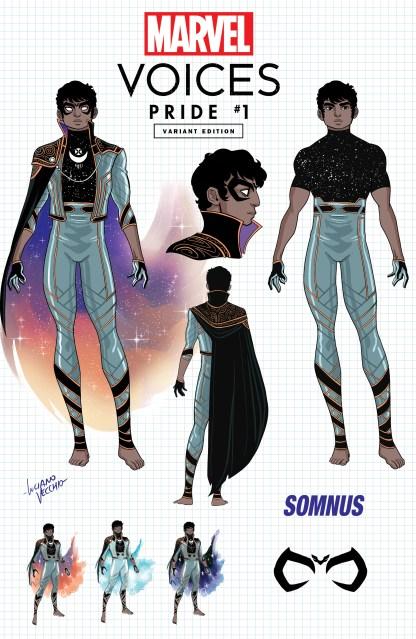 Marvels Voices Pride #1 Ultimate Comics Exclusive Luciano Vecchio Somnus 1st Appearance Design Variant 2021 Est Ship Date 6/23/2021