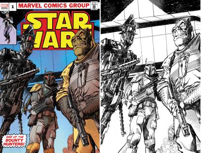 Star Wars War of the Bounty Hunters #1 Ultimate Comics Exclusive John McCrea Variant Classic Logo/ B&W Virgin Set