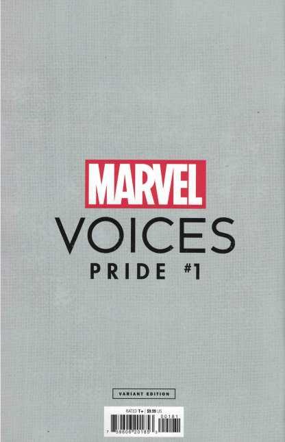 Marvels Voices Pride #1 1:25 Luciano Vecchio LGBTQIA+ Frame Variant 2021 Somnus