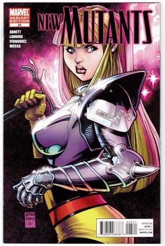 New Mutants #25 1:25 Art Adams Magik Variant Marvel 2009 VF/NM