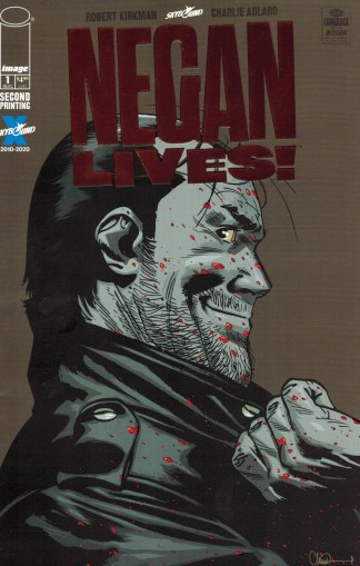 Walking Dead Negan Lives #1 Second Print Bronze Foil One-Per-Store Variant