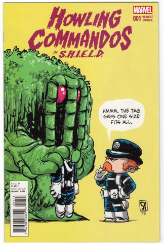 Howling Commandos of Shield #1 Skottie Young Marvel Babies Variant 2015 VF/NM