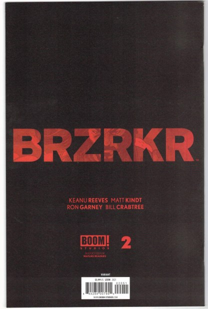 BRZRKR #2 1:25 John Paul Leon Variant BOOM! 2020 VF/NM