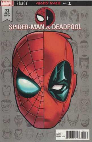 Spider-Man vs Deadpool #23 McKone Headshot Variant Legacy Marvel 2016