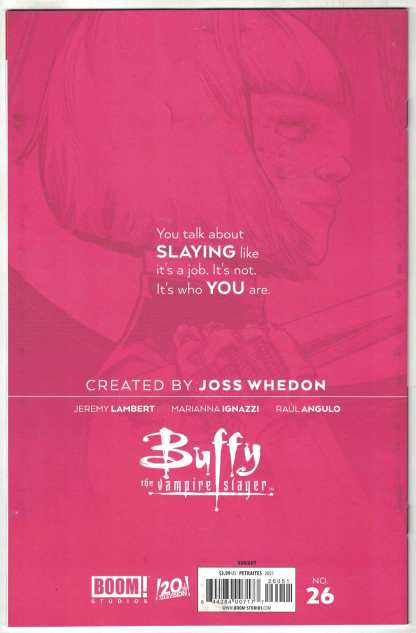 Buffy the Vampire Slayer #26 1:50 Emmaline Kelly Virgin Variant Boom! 2019 VF/NM