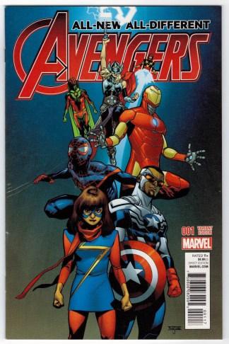 All-New All-Different Avengers #1 1:25 Mahmud Asrar Variant Marvel 2015 VF/NM
