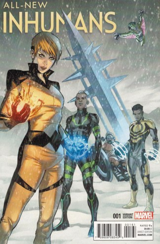 All-New Inhumans #1 1:25 Stefano Caselli Connecting Variant 2015