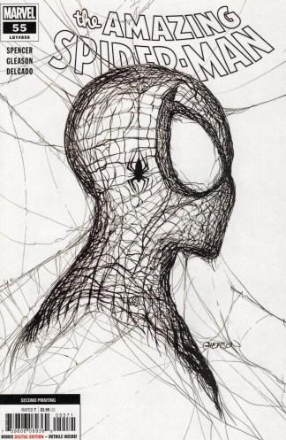 Amazing Spider-Man #55 Patrick Gleason 2nd Print 1:50 White Variant 2018