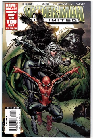 Spider-Man Unlimited #14 David Finch Variant Marvel 2004 Black Cat Dr Doom VF/NM