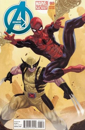 Avengers #3 1:50 Mark Brooks Variant Marvel 2013 Spidey Wolverine