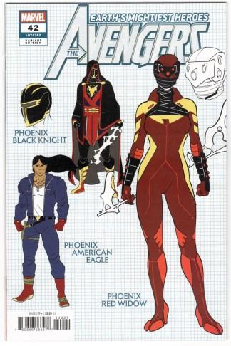 Avengers #42 1:10 Javi Garron Design Variant Marvel 2018 Phoenix VF/NM