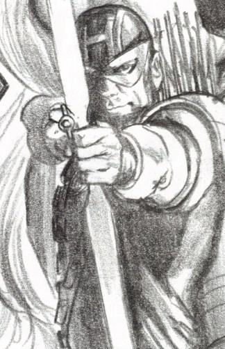 Avengers #42 1:200 Alex Ross Timeless Sketch Variant 2018 Hawkeye