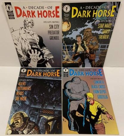 Decade of Dark Horse Complete Set #1-4 Sin City Star Wars Aliens 1996 VF/NM