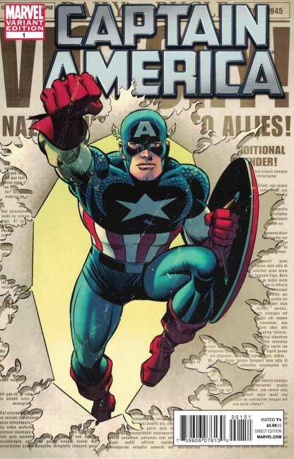 Captain America #1 1:25 Romita Sr Variant Marvel 2011 Brubaker