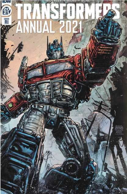 Transformers Annual 2021 1:10 Freddie Williams II Variant Optimus Prime IDW 2017