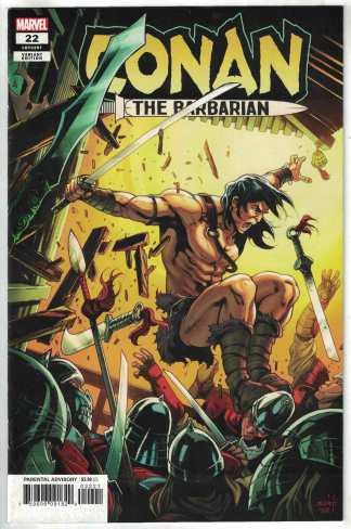 Conan The Barbarian #22 1:25 Valerio Schiti Variant Marvel 2019 Jim Zub VF/NM