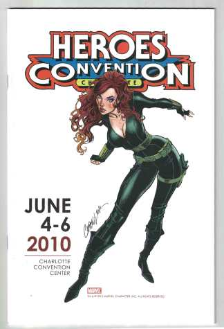 Heroes Convention Charlotte NC Program J Scott Campbell Black Widow CVR 2010 VF