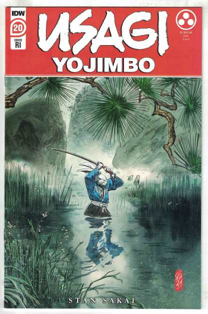 Usagi Yojimbo #20 1:10 Hervas Variant 1st Yukichi Yamamoto IDW 2019 Sakai VF/NM