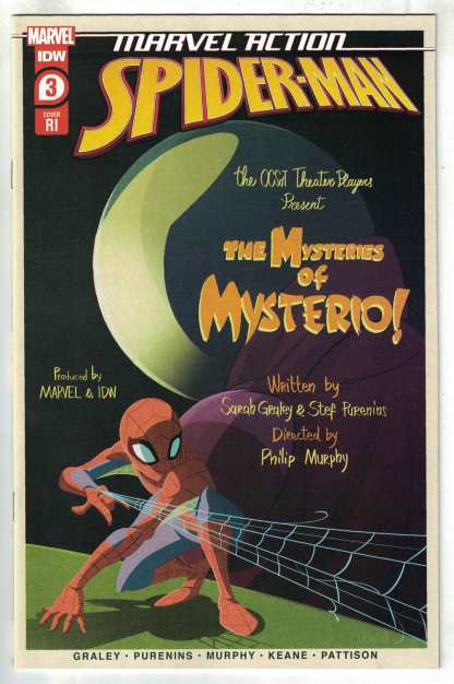 Marvel Action Spider-Man #3 1:10 Florean Variant IDW 2020 Mysterio VF/NM